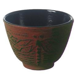 New Star International T7031 Cast Iron Tea Cup, 4-Ounce, Red