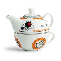Star Wars BB-8 Ceramic Teapot and Cup Set 12 Ounce Pot, 6 Ou