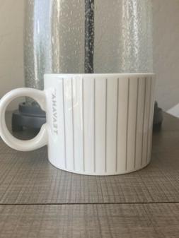 Starbucks Teavana Gray Striped Coffee Tea Mug Cup Porcelain