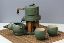 Stone Mill Chinese Ceramic Kung Fu Tea Set Home Office Teapo