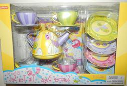 Schylling SUMMER BUGS Tin Tea Set 15 Pieces Purple Pink Yell