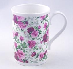 Summertime Pink Rose Chintz - Fine English Bone China Mug