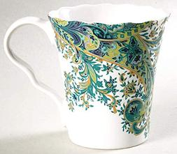 222 Fifth Surya Teal Paisley Mugs for Coffee, Tea, Latte | S
