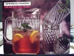 Swirl 7 Pc. Iced Tea Set