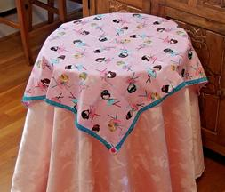 Tablecloth w/4napkins Handmade w/FAERIES BALLERINAS Fabric x
