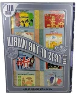 Teas Of The World Tea 80 Bags Gift Set Sampler Total, 8 Flav