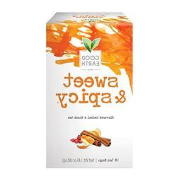 Good Earth Sweet & Spicy Herbal & Black Tea, 18 Tea bags, 1.