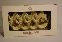 Royal Albert Tea Bag Holders Set of 4 Country Garden