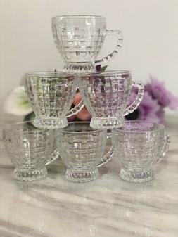 Tea Coffee Serving Set Cups Designer Crystal Glass Turkish A