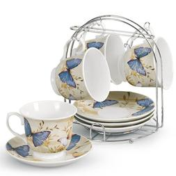 Lorren Home Trends 5-Piece Tea/Coffee Set, Blue