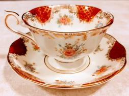 Royal Albert Tea Cup and Saucer Set Empress Series Catherine