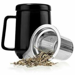 Tealyra - Peak Ceramic Black Tea Cup Infuser - 19-ounce - La