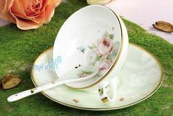 tea cup set cup saucer spoon coffee