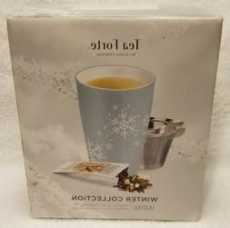 Tea Forte Kati BLUE Snowflakes Steeping Cup Winter Collectio