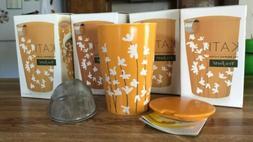 tea forte KATI cup *Set Of four* Star Magnolia Orange 12oz.