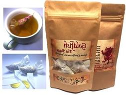 Tea gift set 8 Goldfish tea bags EARL GREY, ORGANIC HERBAL T