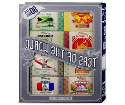 TEAS OF THE WORLD 80 TEA BAGS GIFT SET LARGE BOOK EXP 7/2022