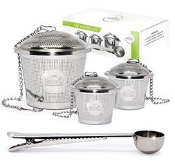 Tea Infuser Set by Chefast  - Combo Kit of 1 Large and 2 Sin