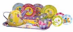 Tea Party Set For Girls Play Kids Teapot Pot Cups Saucers Pl