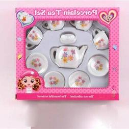 Tea Party Set Pretend Play Girl Toy Kid Picnic Basket Porcel