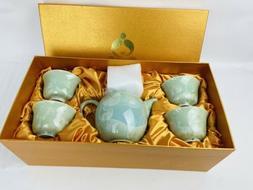 Teavana Tea Pot Set Jade Green Pearl New In Box