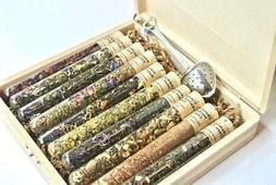 Tea Sampler Gift Set, 10 Test Tubes of Loose Leaf
