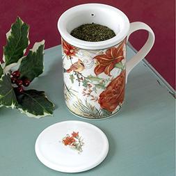Bits and Pieces - Gorgeous Porcelain Cardinal Tea Seeper Set