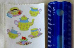 Sandylion TEA SET - 1 Square of VINTAGE RETIRED Stickers DIS