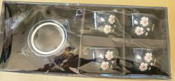 Tea Set Asain Indigo Blue Floral Kafuh New in Box 4 Cups Tea