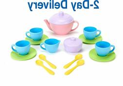 Green Toys Tea Set - BPA Free Phthalates Free Play Toys for