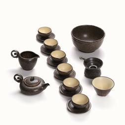 Tea set Ceramic retro Tea wash Antique teapot Tea cup and sa