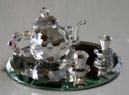Tea Set Crystal Made with Swarovski Crystal - Tea Set Figuri