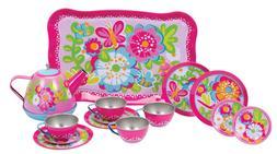 Tea Set For Kids Girls Garden Party Pretend Play Toy FLowers