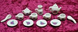 Tea Set Little Girls Miniature Porcelain Ceramic 15 pc china