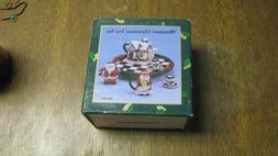 tea set, miniature, Christmas theme, NIB, free shipping
