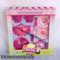 Tea Set Party Girls Pretend Play Toys Kitchen set 9 Pcs, New