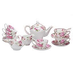 Porlien Tea Set, Rose Camellia, Porcelain Gift Set