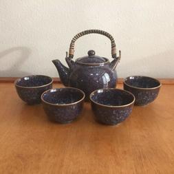 Teavana Tea Set Teavana Stoneware Tea Set - Blue Teapot And