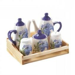 Tea Sets, Dolomite Ceramic Rose China Tea Set For Home Organ