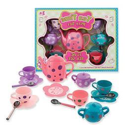 Kellisgift Tea Sets For Girls Tea Party 15 Piece For Pretend