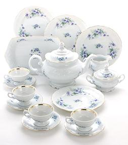Wawel Tea with Grace 16-Piece Fine China Tea Set for Childre