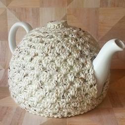 Teapot Cozy Decorative Cover Light Beige Fleck