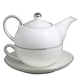 Jomop Teapot Cup and Saucer Set