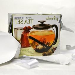 Primula Teas Of The World Set Tempo 40oz Glass Teapot With H
