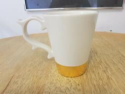Starbucks Teavana 2015 White Gold Dipped Baroque Scroll Mug,