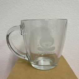 Teavana Large Clear Glass Tea Mug Cup Etched Logo Imaginary
