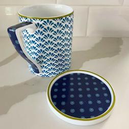 Portmeirion Ted Baker Malton Blue Coffee Tea Ceramic Mug and