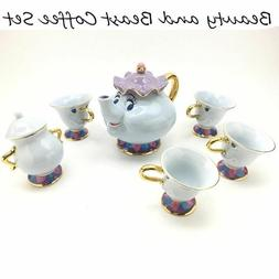 Genuine Beauty And The Beast Tea Set Mrs Potts Teapot Chip C