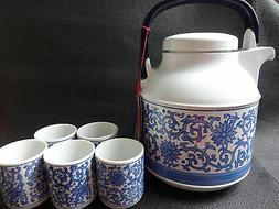 ZOJIRUSHI Thermos Tabletop Tea Pot & Teaware Cup Set Japan