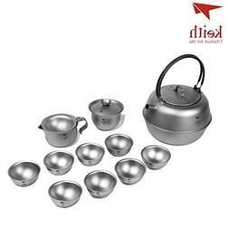 Keith Ti3930 1.5L Titanium 12Pcs in 1 Chinese Kongfu Tea Set